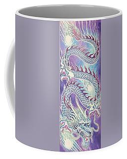 Blue Purple Japanese Dragon Coffee Mug