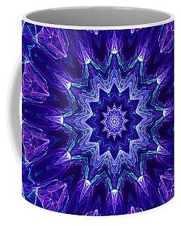 Blue And Purple Mandala Fractal Coffee Mug