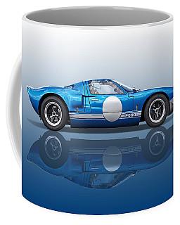 Blue Reflections - Ford Gt40 Coffee Mug