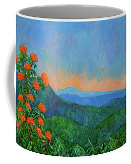 Blue Ridge Morning Coffee Mug by Kendall Kessler