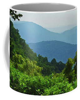 Blue Ridge Mountain Layers Coffee Mug by Kerri Farley
