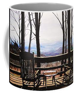 Blue Ridge Mountain Porch View Coffee Mug