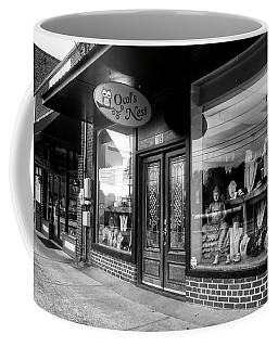 Blue Ridge Owl's Nest In Black And White Coffee Mug
