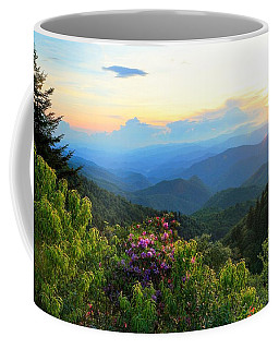 Blue Ridge Parkway And Rhododendron  Coffee Mug