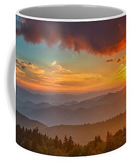 Blue Ridge Sunset Pano Coffee Mug