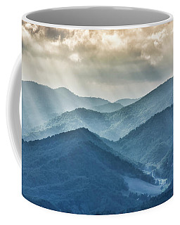 Blue Ridge Sunset Rays Coffee Mug