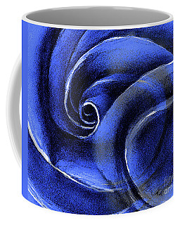 Coffee Mug featuring the painting Blue Rose by Allison Ashton
