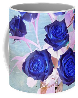 Blue Roses Abstract Coffee Mug