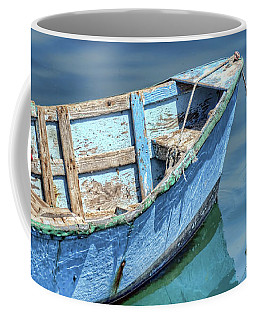 Blue Rowboat At Port San Luis 2 Coffee Mug