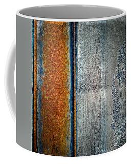 Coffee Mug featuring the mixed media Blue Rust by Lita Kelley