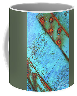 Blue Rusty Boat Detail Coffee Mug by Lyn Randle