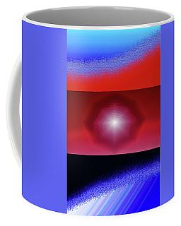 Blue Series Triptych Coffee Mug