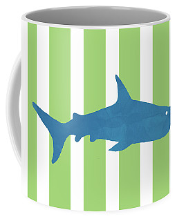 Blue Shark 2- Art By Linda Woods Coffee Mug