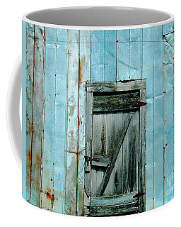 Blue Shed Door  Hwy 61 Mississippi Coffee Mug
