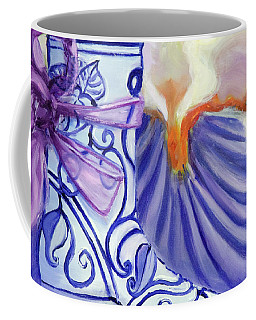 Blue Shoe, Painting Of A Painting Coffee Mug