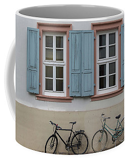 Blue Shutters And Bicycles Coffee Mug