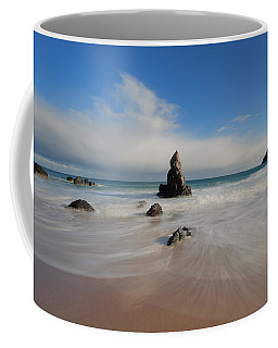 Coffee Mug featuring the photograph Blue Skies Above Sango Bay by Maria Gaellman