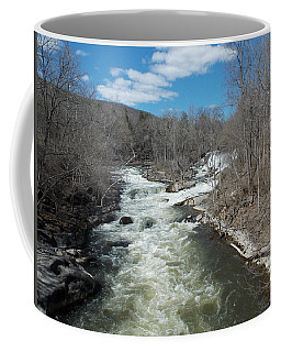 Blue Skies Over The Housatonic River Coffee Mug