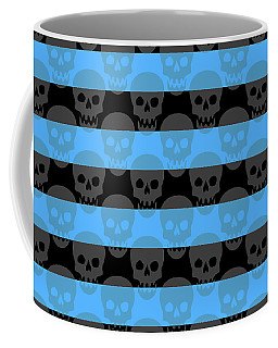 Blue Skull Stripes Coffee Mug