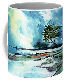 Coffee Mug featuring the painting Blue Sky by Anil Nene