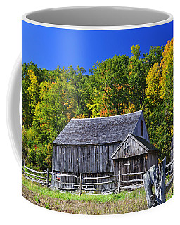 Blue Sky Autumn Barn Coffee Mug