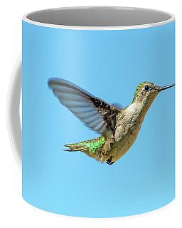 Blue Sky Hummingbird Coffee Mug