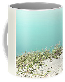 Blue Sky Over Sea Grass Coffee Mug