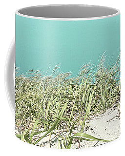 Blue Sky Over Sea Grass Coffee Mug