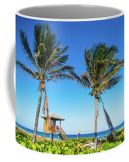 Blue Sky Palms Delray Beach Florida Coffee Mug