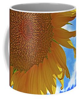 Blue Sky Sunflower Coffee Mug
