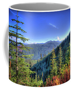 Coffee Mug featuring the photograph Blue Skykomish by Spencer McDonald