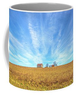Coffee Mug featuring the digital art Blue Skys And Yellow Fields by Randy Steele