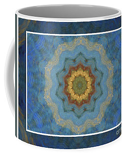 Coffee Mug featuring the photograph Blue Snowflake by Shirley Moravec