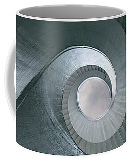 Coffee Mug featuring the photograph Blue Spiral Stairs by Jaroslaw Blaminsky
