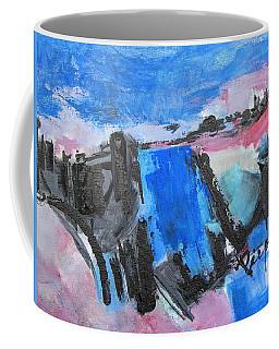 Blue Square Coffee Mug
