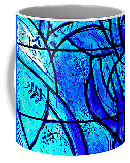 Blue Stained Glass Detail 1  Coffee Mug