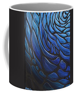 Blue Stained Glass Coffee Mug
