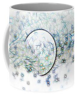 Blue Star Abstract Coffee Mug by Linda Phelps