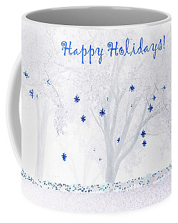 Coffee Mug featuring the photograph Blue Star Tree by Ellen O'Reilly