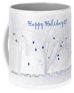 Blue Star Tree Coffee Mug by Ellen O'Reilly