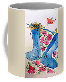 Coffee Mug featuring the painting Blue Stockings by Claire Bull