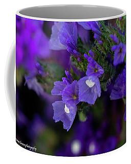 Blue Straw Flower Coffee Mug by Nance Larson