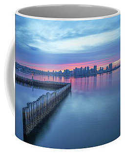 Blue Sunrise Coffee Mug by Joseph S Giacalone