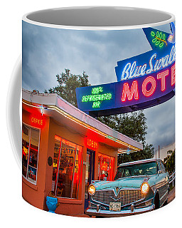 Blue Swallow Motel On Route 66 Coffee Mug by Steven Bateson