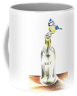 Blue Tit Loves The Cream Coffee Mug