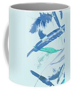 Blue Toned Artistic Feather Abstract Coffee Mug
