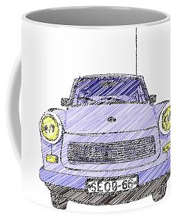 Blue Trabant Coffee Mug