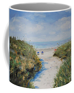 Blue Umbrellas Coffee Mug