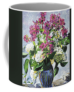 Blue Vase Arrangement Coffee Mug