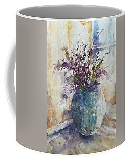 Blue Vase Of Lavender And Wildflowers Aka Vase Bleu Lavande Et Wildflowers  Coffee Mug